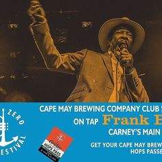 How do you like your #blues? We like 'em slow & ez. @FrankBey headlines the @capemaybrewco #HopsPass club series 4 20-22 . #Smooth…