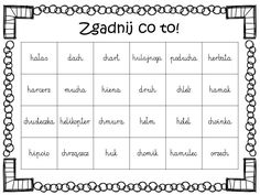 Zgadnij co to? Teacher Morale, Object Pronouns, Kids Education, Back To School, Speech Language Therapy, Therapy, Asperger, Teaching Ideas, Early Education