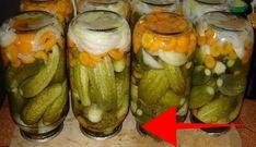 Nepřekonatelné znojemské okurky bez vaření nálevu: Loni jsme na zkoušku udělali jen 2 sklenice, letos už jiné nedělám, jsou fantastické!   iRecept.cz Conservation, Preserves, Pickles, Cucumber, Zucchini, Bavaria, Food And Drink, Vegetables, Cooking