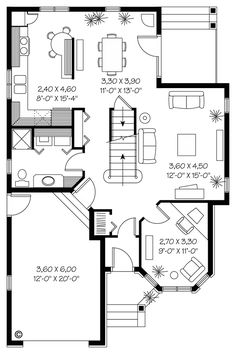 House Plan 65299 - Traditional, Victorian Style House Plan with 1715 Sq Ft, 3 Bed, 2 Bath, 1 Car Garage Narrow Lot House Plans, House Plans And More, Best House Plans, Country House Plans, Sims House Design, Small House Design, Victorian House Plans, Victorian Homes, Custom Home Designs