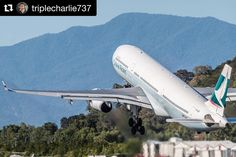 Its take off Tuesday  One of our favourite photos   #cairns #avgeek #cathaypacific #takeoff #lifewelltravelled #planespotter #instapic