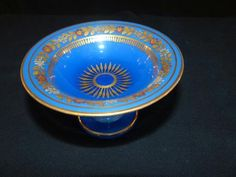 Charles X, Blenko Glass, Opal Color, Gold Glass, Opaline, Rosettes, Antique Furniture, Serving Bowls, Period