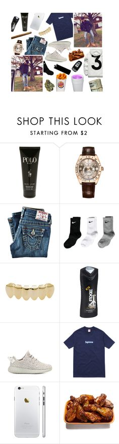 """""""241216"""" by young-thugs ❤ liked on Polyvore featuring Polo Ralph Lauren, Rolex, True Religion, NIKE, KING, adidas Originals, Supreme, WALL and Spy Optic"""