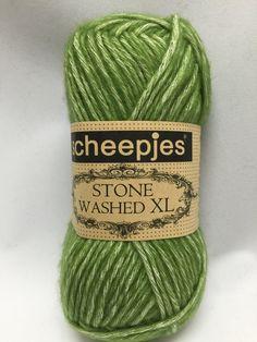 Canada Jade, 846, Sheepjes Stone Washed XL, Green Yarn, Cotton Yarn by GoodFiberYarns on Etsy https://www.etsy.com/listing/262353568/canada-jade-846-sheepjes-stone-washed-xl