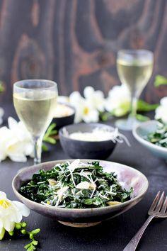 Toasted Sesame Kale Salad with Asiago - CaliZona