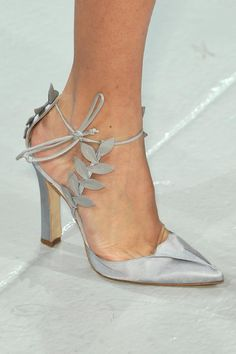 The Bride's Shoes - Zac Posen Spring 2014 / www.nymag.com / The TOO GLAM Wedding