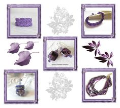 """Purple set!"" by keepsakedesignbycmm ❤ liked on Polyvore featuring jewelry, accessories and gifts"