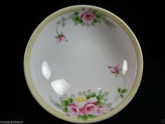"""Vintage Antique NIPPON BOWL SIGNED WITH THE GREEN ORANGE Crown Mark 8 3/4"""" dia."""