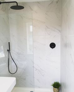 Marble bathrooms 671317888192595014 - Marble tiles from Total Tiles. Black tapware Lusso Stone Marble tiles from Total Tiles. Black tapware Lusso Stone, Source by Marbel Bathroom, Grey Marble Bathroom, Black Tile Bathrooms, Wet Room Bathroom, Marble Tiles, Marble Floor, Stone Tiles, Bathroom Flooring, Gold Bathroom
