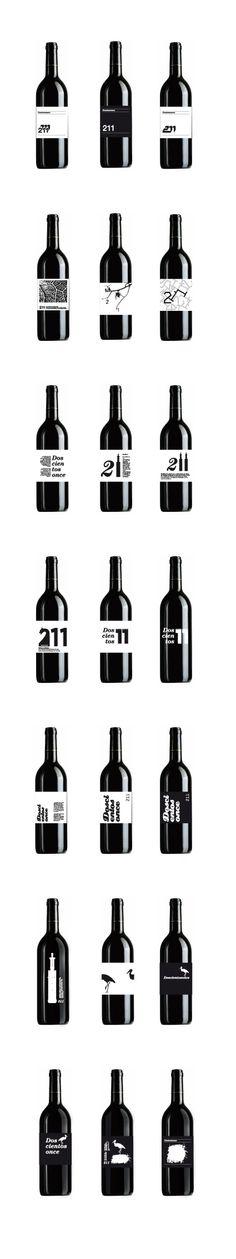 Etiquetas para edicción limitada de vino 211, DiLab #packaging #design #wine