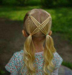 Ideas hair styles weave braids kids for 2019 Girls Hairdos, Cute Hairstyles For Kids, Baby Girl Hairstyles, Pretty Hairstyles, Braided Hairstyles, Short Hairstyles, Toddler Hairstyles, Hairstyles Videos, Summer Hairstyles