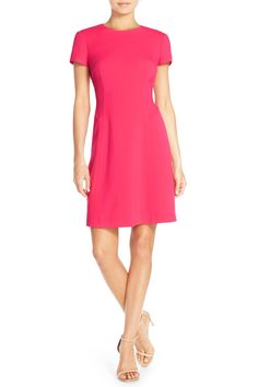 Stretch Crepe Fit & Flare Dress