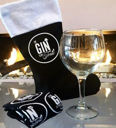 The Gin to My Tonic branded stocking with socks and copa gin glass Christmas Gin, Christmas Cocktails, Ginvent Calendar, Gin Miniatures, Make Your Own Gin, Edinburgh Christmas, Flavoured Gin, Club Crackers
