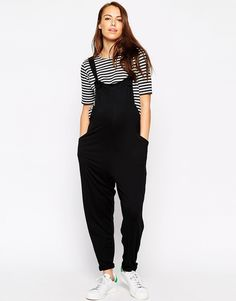 Buy ASOS Maternity Dungaree Jumpsuit In Jersey at ASOS. With free delivery and return options (Ts&Cs apply), online shopping has never been so easy. Get the latest trends with ASOS now. Asos Maternity, Maternity Dungarees, Stylish Maternity, Maternity Fashion, Women's Summer Fashion, Boho Fashion, Cool Outfits, Casual Outfits, Express Fashion