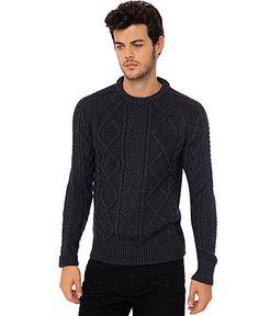 Buffalo David Bitton Sweater, Waclip Chunky Crew Neck Sweater - Mens Sweaters - Macy's