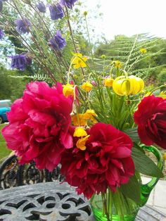 Beautiful flowers in Bliss Cottage gardens x