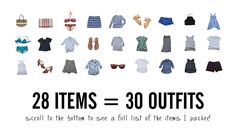 Fit 30 Outfits in Your Carry-On: The Tools & Techniques You Need to Fit It All via @Stylebook App: Closet Organizer