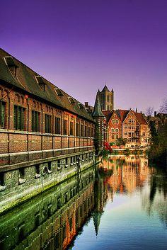 Medieval architecture in Ghent, Belgium