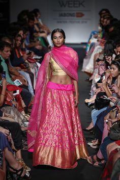 Lengha by Sanjay Garg at Lakme Fashion Week 2014
