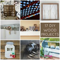17 DIY Wood Projects! So much great inspiration! -- Tatertots and Jello