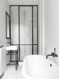 Astounding Unique Ideas: Minimalist Decor Bathroom Tile minimalist home style woods.Minimalist Kitchen List Products contemporary minimalist interior home decor.Minimalist Home Diy Dreams. French Bathroom, Modern Bathroom, Small Bathroom, Bathroom Black, Minimal Bathroom, White Bathrooms, Bathroom Taps, Taps Bath, Small Sink