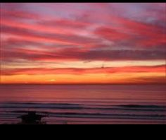 Beautiful sunsets on a warm beach