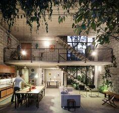 Maracanã House - Terra e Tuma Arquitetos -  adoro blocos de concreto aparente!