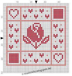 maxi stickt: Freebies Cross Stitch Borders, Cross Stitch Alphabet, Fillet Crochet, Square Patterns, Stitch 2, Perler Beads, Lana, Christmas Sweaters, Crochet Patterns