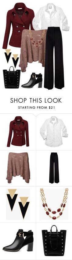 """""""coat"""" by kim-coffey-harlow ❤ liked on Polyvore featuring Doublju, MaxMara, Yves Saint Laurent, Talbots, Ted Baker and Mulberry"""