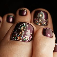 + Incredible Toe Nail Designs for Your Perfect Feet ★ See more: https://naildesignsjournal.com/chic-toe-nail-designs/ #nails