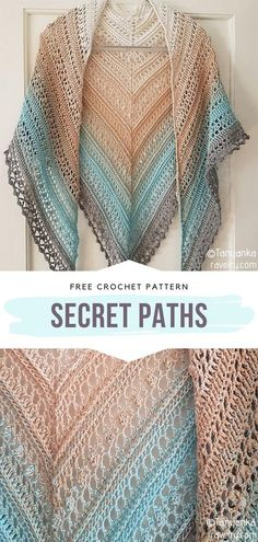 The simplest way to get chic is by pairing your outfits with Gradient Colorway Crochet Shawls. They are light and airy, therefore great for summer One Skein Crochet, Crochet Shawl Free, Crochet Shawls And Wraps, Crochet Scarves, Crochet Clothes, Crochet Stitches, Crochet Baby, Crochet Shawl Diagram, Crochet Vests