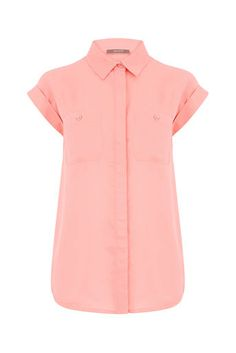 Top off your look with our on-trend edit of t-shirts, blouses, vests and strappy camis. Casual Tops, Casual Pants, Casual Outfits, Bardot, Oasis, Summertime, Floral Tops, Button Down Shirt, Coral
