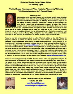 """#UNARMEDBUTDANGEROUSMOVIE Tawana Williams was born without arms and impaired use of her legs and has never let her disability stop her. She Lives a """"No Excuse Lifestyle."""" What about you? It's time to put your boxing gloves on and Fight for Your Dreams in 2014. If you need a Speaker, then call Tawana Williams @ 252-291-6081. www.TawanaWilliams.com"""
