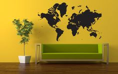 Wall Vinyl Sticker Room Decals Mural Design Map World Continents Earth bo1214 | Home & Garden, Home Décor, Decals, Stickers & Vinyl Art | eBay!