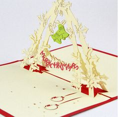 Find More Greeting Cards Information about 2014 fashion high end 3D Christmas bell arch Christmas  greeting cards Wish merry Christmas Handmade postcards  Christmas gift,High Quality christmas gifts cookies,China christmas gift coloring page Suppliers, Cheap christmas grab bag gifts from 520home on Aliexpress.com