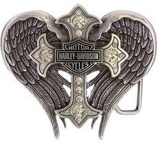 Harley-Davidson Women's Back Roads Cross Winged Belt Buckle - http://amzn.to/1mJbvpc