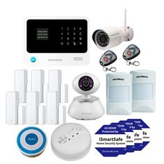 iSmartSafe home security system premium package provides best coverage and visual protection for your home. It includes Alarm Panel and Smart Camera. Best Home Security System, Home Security Tips, Wireless Home Security Systems, Ring Security, Security Alarm, Security Camera, System Camera, Security Surveillance, Alarm System