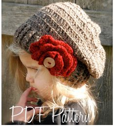 Crochet PATTERNThe Scarlett Slouchy Toddler by Thevelvetacorn