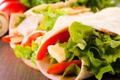 Check out how BRIANNAS Home Style Dressings make Quick Ranch Turkey Wrap even tastier. Veggie Lettuce Wraps, Salad Wraps, 10 Minute Meals, Turkey Wraps, Ranch, 7 Day Meal Plan, Turkey Sandwiches, Lunch Box Recipes, Salad Recipes