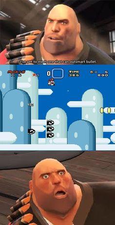 Breaking the news to heavy #Mario #TF2