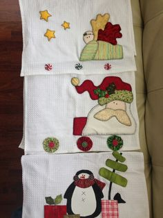 3 toallas navideñas