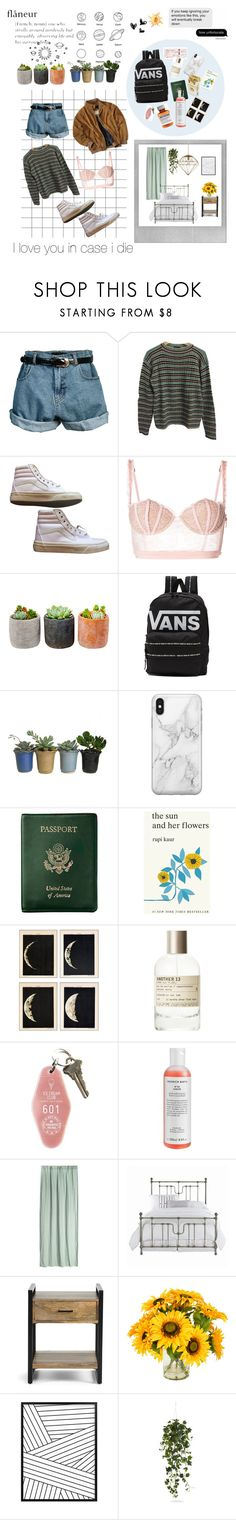 """""""grotesk"""" by emily1102 ❤ liked on Polyvore featuring Retrò, Prada, Vans, La Perla, Shop Succulents, Recover, Humör, Royce Leather, Simon & Schuster and Børn"""