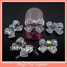 1.70$  Buy now - http://ali9q0.shopchina.info/go.php?t=1640393767 - 10pcs glitter rhinestone bow tie nail art alloy 3d bows nail art decoration jewelry charms  nail  accessories supplies MNS43  #aliexpresschina
