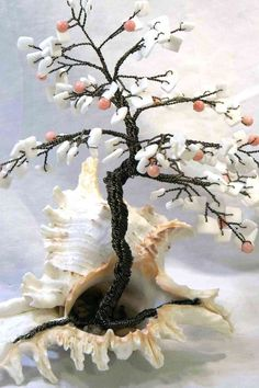 Murex Coral Beaded Bonsai - Ming Tree. $42.00, via Etsy.