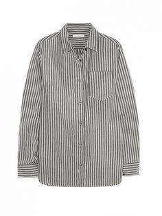 We've Got Our Eye On Rihanna's Boyfriend Shirt via @WhoWhatWear // Etoile Isabel Marant Waida Oversized Striped Cotton Shirt