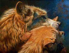 Lakota Language by Julie Bell. Original fine art oil painting of wolves by award winning artist Julie Bell. Prints available. Julie Bell, Pembroke Welsh Corgi Puppies, Bell Art, Wolf Painting, Luis Royo, Art Addiction, Boris Vallejo, Southwest Art, Animal Sketches