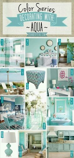 Decorating with aqua...