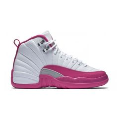 Air Jordan 12 Retro Girls 'Valentine's Day' ❤ liked on Polyvore featuring shoes and jordans