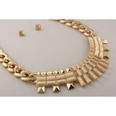 Ivory & Gold Necklace Set