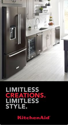 Learn more at KitchenAid.com about the revolutionary features and chef-inspired design found in the full black stainless collection. Now you have the opportunity to create a kitchen as bold as your ambitions.
